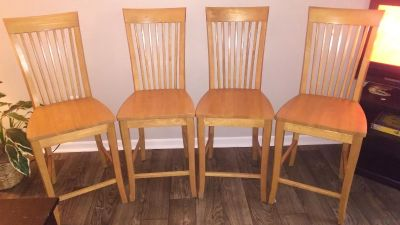 Oak counter height chairs