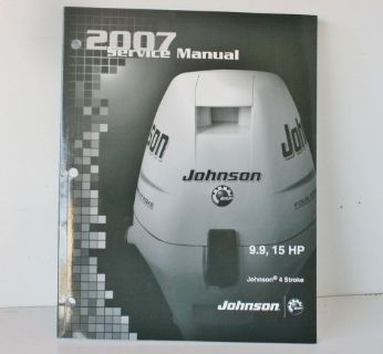 Sell NEW OEM 2007 Johnson SU 4 stroke 9.9 15 HP Outboard Motor Service Manual 5007221 motorcycle in Daytona Beach, Florida, United States, for US $25.99