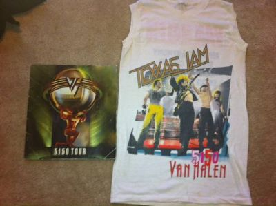 RARE Van Halen 5150 Shirt  Tour Program