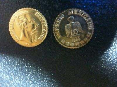 1865 Maximilian Mini Gold Bullion Imperio Mexicano