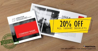 Get 20% off on Square Booklets