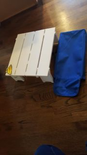 NWT picnic/beach table with carrying case, folds up easily 16x 14 and 6 inch in height