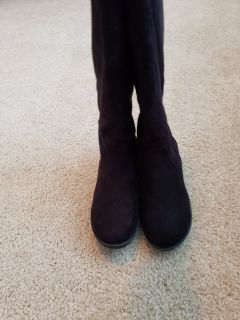 Suede girls tall boots