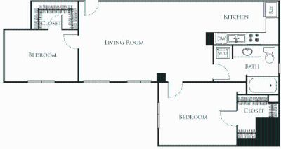 2 bedroom in New Downtown