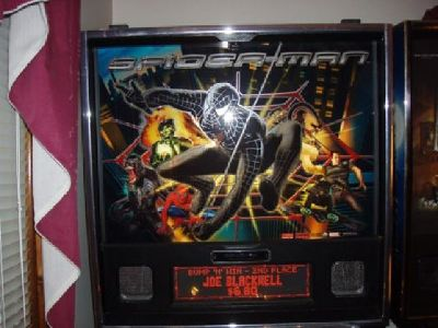 $8,500 OBO Stern Black Spiderman Pinball Machine