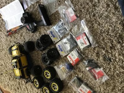 Traxxas 1/16 summit with aluminum chassis and tons of upgrades/extras