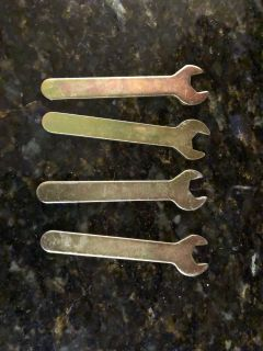 4 Small Metal Wrenches