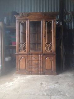 Huge china cabinet display cabinet with lights Auction find