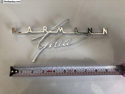 Karmann Ghia Rear Deck lid script
