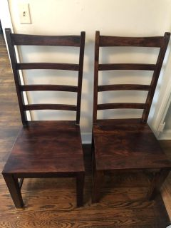 2 Nadeau Ladder Back Dining chairs