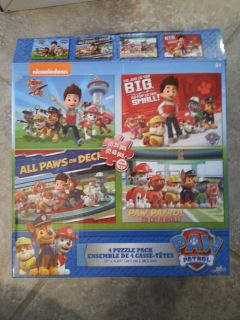 Paw Patrol four puzzle pack
