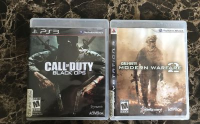 PS3 Call of Duty Black Ops and Modern Warfare 2