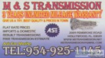 MandS Transmission Years Warranty