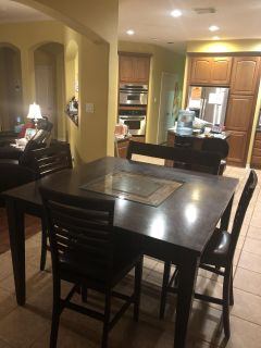 Table with Bench & 3 chairs