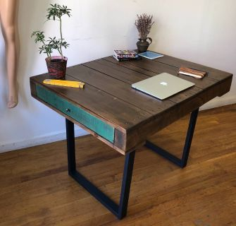 Industrial Handmade Work Table/ Dining Table/Desk