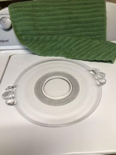 Duncan & Miller TEARDROP Clear Depression Glass plate platter. Excellent condition