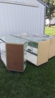 3 glass show cases