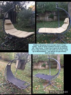 Outdoor hanging chairs lounge chairs