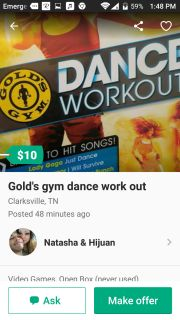 Golds gym dance work out