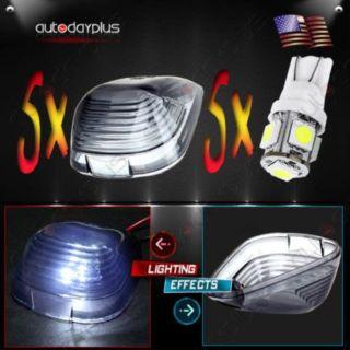 Sell 5xCab Marker Smoke Roof Running Light Lenses+White LED Bulb For Ford F-250 E-350 motorcycle in Pomona, California, United States