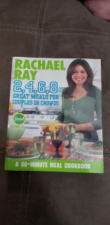 Rachael Ray 2, 4, 6, 8 Great Meals For Couples or Crowds Cookbook. Excellent Condition