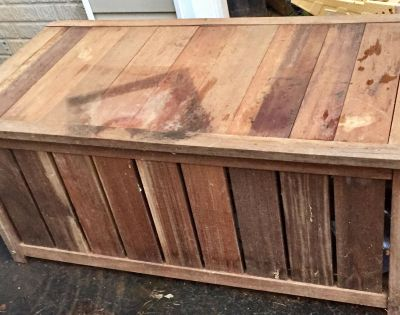 Solid wood heavy storage box with hinged lid