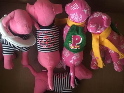 SOME OF THE 1st VS PINK DOG MASCOTS