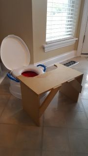 Potty seat home-made table