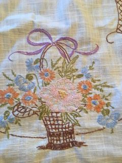 Pretty hand embroidered table runner