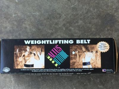 Weight Lifting Belt.