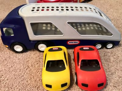 Little Tikes Car Hauler and two cars