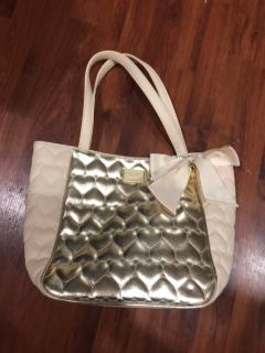 Betsey Johnson Pink and Gold Tote Bag