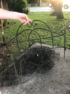 FREE!!! 31 decorative landscaping stakes for around flower beds