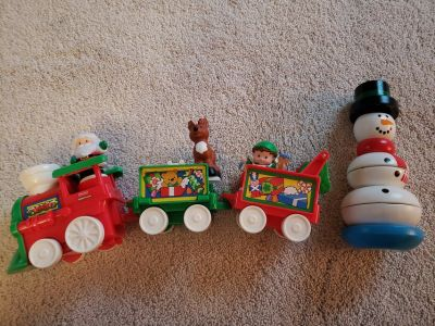 Little People Christmas Train and Snowman Stacker