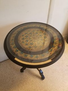 Peacock Designed Side Table
