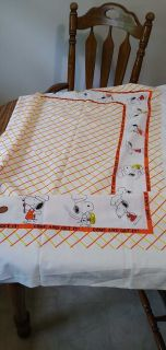 Snoopy card table size tablecloth