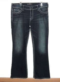 Silver SUKI Western Glove Work Bootcut Embellished Jeans W34 L30 Measures 34 x 29