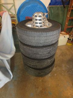 "Purchase Four 17"" Duravis 265/70/17 Tires & Wheels motorcycle in Kansas City, Missouri, United States"