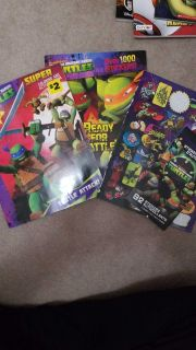 Ninja Turtle coloring books and stickers