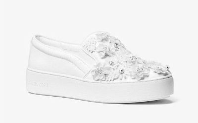 MICHAEL Michael Kors TRENT Floral Sequined Slip-On Sneakers Shoes
