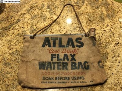 Canvas Water Flax Bag Vintage 1950 s