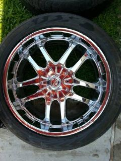 22 ZINIK CHROME RIMS  TIRES