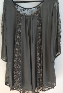 2 Flowy Tunic Style Blouses L