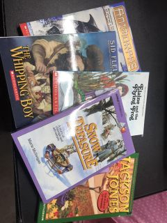 5 Kids paperback books I would say 3rd grade level very nice