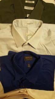 2 button-down shirts, long sleeve, EUC