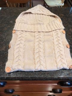 Knit baby sack