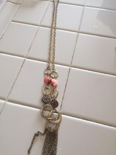 Pretty necklace long 18 inches long great shape nice colors