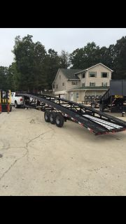 2017 KAUFMAN 50FT 3 CAR HAULER 9000LB WINCH 7000LB AXELS LED LIGHTS HEAVY DUTY MESH UPGRADE