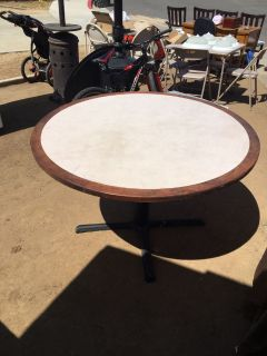 2 48 inch wood tables with detachable metal legs