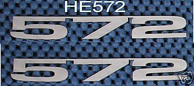 Buy CHEVY 572 EMBLEM POLISHED LAZER CUT STAINLESS STEEL motorcycle in Bryant, Alabama, United States, for US $53.95
